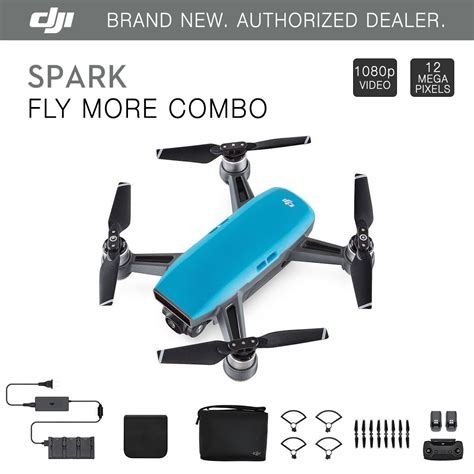 Quadcopter Drone Dji Spark Fly More Combo Original Garansi Resmi 1tahu dji spark fly more combo sky blue quadcopter drone 12mp 1080p 685646808090 ebay