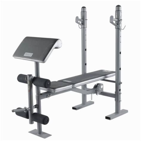 de bench bm210 weights bench domyos by decathlon