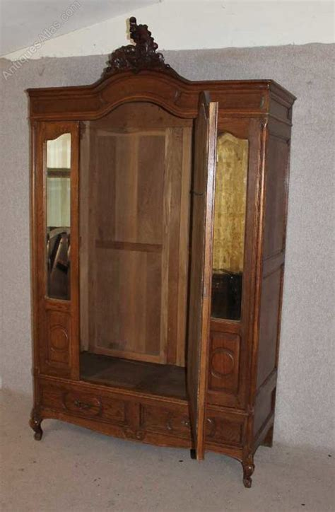 armoire mirror door oak louis xv 3 door mirrored armoire antiques atlas