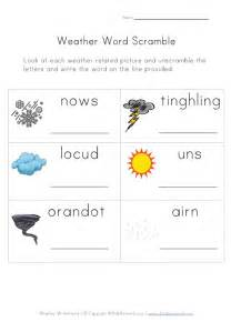 weather worksheet word scramble
