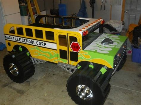 monster truck beds retro mudville monster truck schoolbus bed room ideas