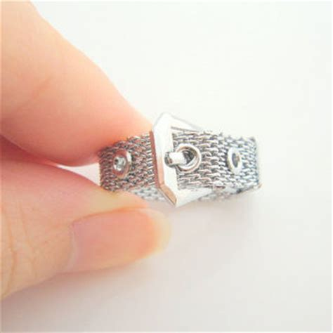 mesh belt ring antique silver woven from jolcreations on