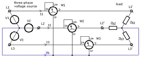 3 phase wattmeter connection diagram measuring three phase power electronic measurements