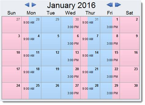 how to make a child custody calendar create print