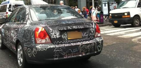 chalkboard paint your car the chalkboard car a work of