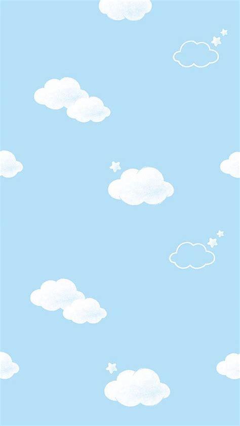wallpaper blue cloud blue white mini clouds stars iphone wallpaper phone