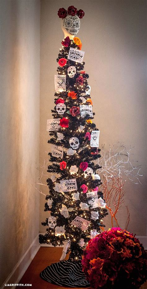 how to decorate a pencil tree for christmas day of the dead decorations at midnight navidad and the spirit