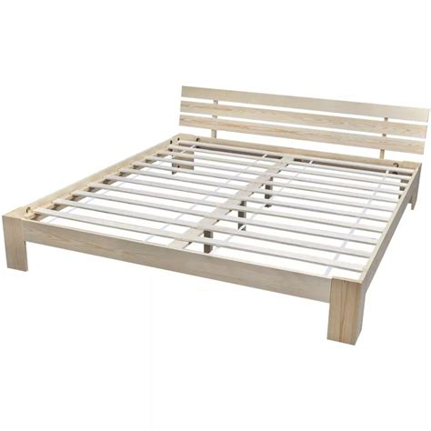 futon 180x200 vidaxl bed only frame 180x200 cm 6ft king solid