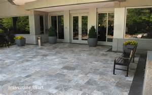Cheap Room Dividers - silver travertine pavers pool and patio natural stone pavers traditional exterior boston