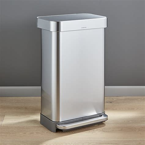 Simplehuman Kitchen Trash Can by Simplehuman 174 45 Liter 12 Gallon Stainless Steel Step