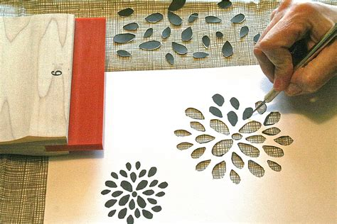 Handmade Crafts Tutorials - how to make diy screenprinted stencil wall paper dear