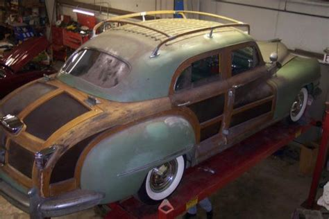 chrysler town and country roof rack card 1947 chrysler town country