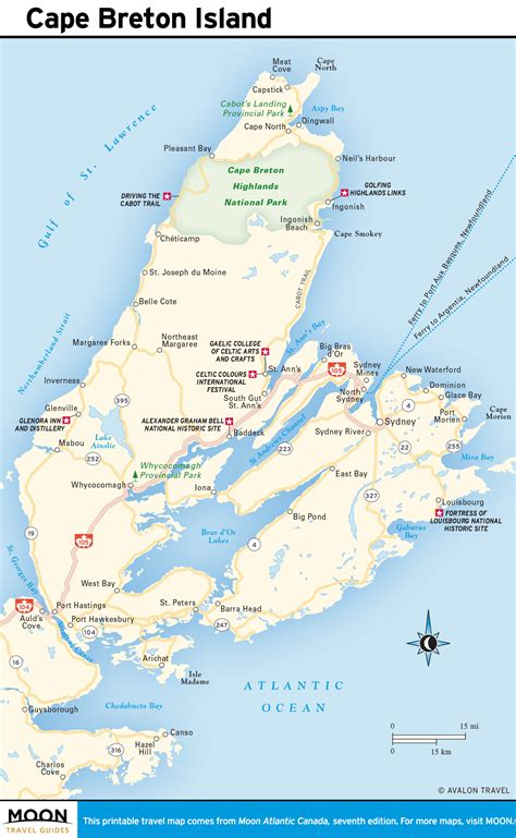 printable map of printable travel maps of atlantic canada moon travel guides