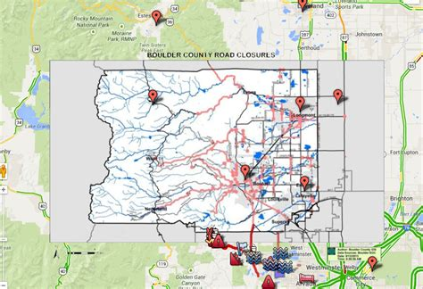 colorado road report map boulder flooding map weather warnings road conditions