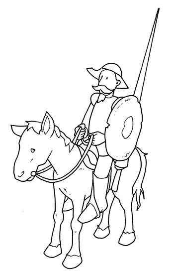 imagenes de don quijote a lapiz dibujos para colorear midisegni it