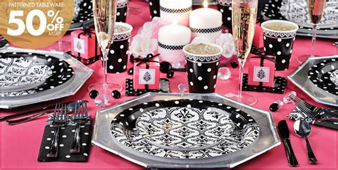 Pink And Black Polka Dot Baby Shower Decorations by Damask Baby Shower Decorations Best Baby Decoration