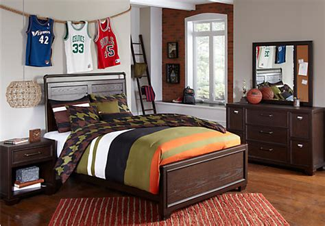 4 pc kids boys teen bedroom set twin full queen bed clubhouse chocolate 5 pc twin panel bedroom contemporary
