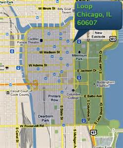 Map Of West Loop Chicago by Chicago Loop Neighborhood Map