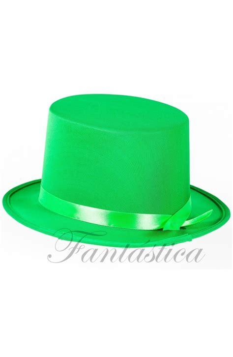 imagenes de sombreros verdes sombrero de copa para fiesta o disfraz con cinta color