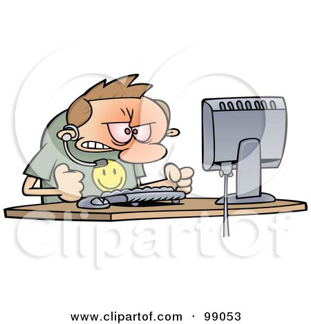 banging head on desk computer worker clipart clipart kid