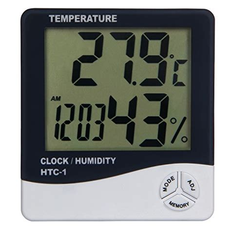 Digital Temperature Humidity Meter With Clock Alarm Calender Htc 2 23 best and coolest clock thermometers 2018