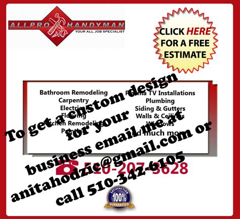 free handyman flyer template 10 best images of free blank handyman flyer flyers with