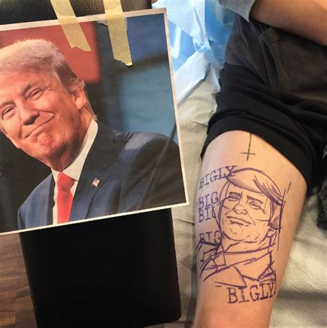 trump tattoo muslim check out this yuge donald trump tattoo on his supporter