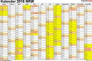 Kalender 2016 Feiertage Kalender 2016 Nrw Ferien Feiertage Word Vorlagen