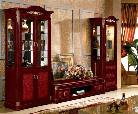showcase furniture for living room made in china vintage furniture lcd tv cabinet design