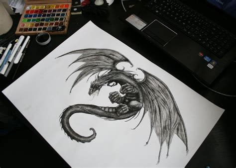 fantasy dragon tattoo designs on tattoos