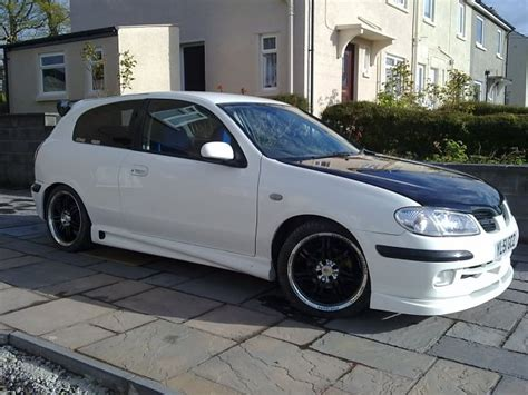 nissan 2002 modified nissan almera n16 white slightly modified 48 000