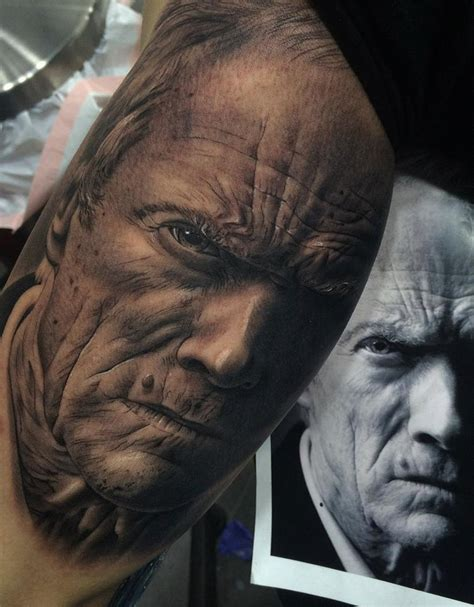 clint eastwood tattoo clint eastwood portrait best design ideas