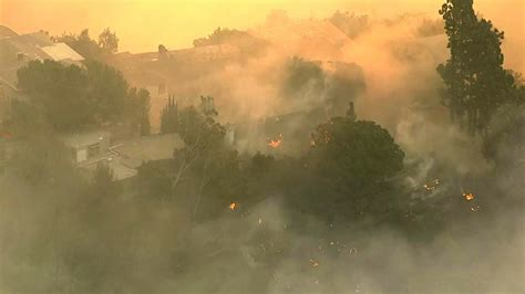 Update Air firefighters attempt to contain bel air blaze ahead of the strong winds expected thursday
