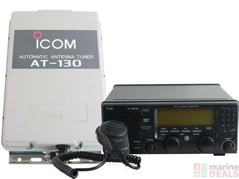 buy icom ic m710 hf ssb radio with at 130 automatic tuner unit at marine deals co nz