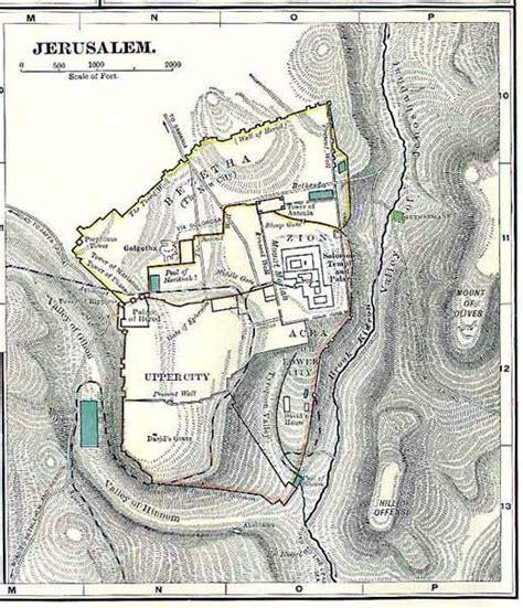 ancient map of jerusalem maps jerusalem