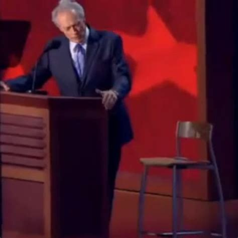 clint eastwood chair meme clint eastwood s empty chair speech eastwooding