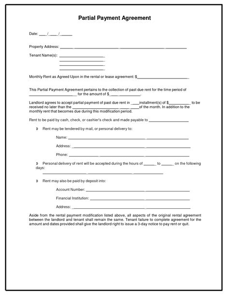 car payment plan agreement template car payment agreement template pictures inspirational