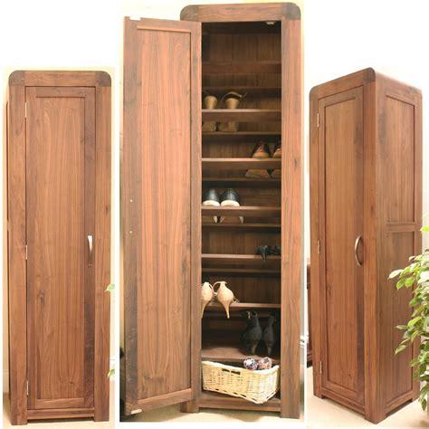 Strathmore solid walnut furniture shoe cupboard cabinet