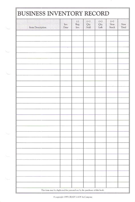 Business Records Planner Pages Day Planner Pages
