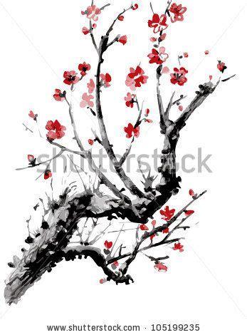 Japanese Blossom Tree realistic sakura blossom japanese cherry tree isolated