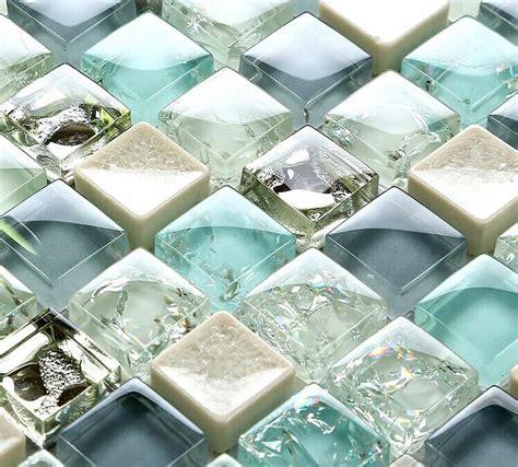 glass tile for backsplash in kitchen ceramic glass tile backsplash kitchen crackle crystal wall