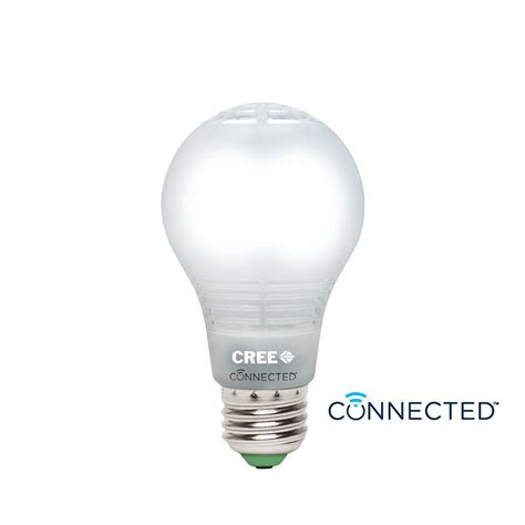 cree led light bulbs cree connected 60w equivalent daylight a19 dimmable led light bulb ba19 08050omf 12ce26 1c100