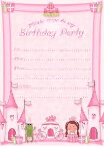 birthday invitations free printable free printable princess birthday invitations printable kits