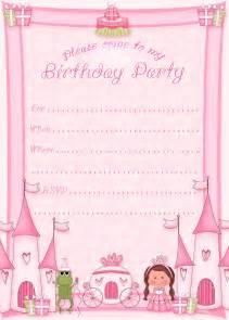 Free printable princess birthday party invitations printable party