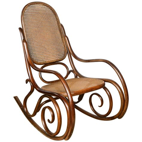 thonet bentwood rocking chair rocking chairs interior vintage thonet bentwood rocking chair at 1stdibs