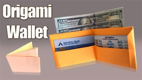 How To Make An Origami Wallet - how to make origami wallet step by step paper wallet