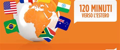 tariffa telefonica mobile più conveniente 120 minuti per chiamare all estero a 5 al mese con