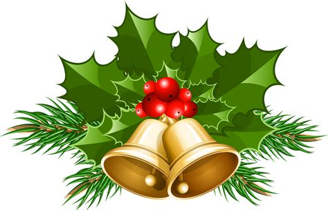 Clipart Natale - bells with clip large clip