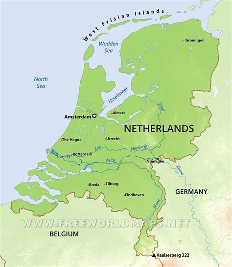 netherlands geography map image gallery netherlands lakes