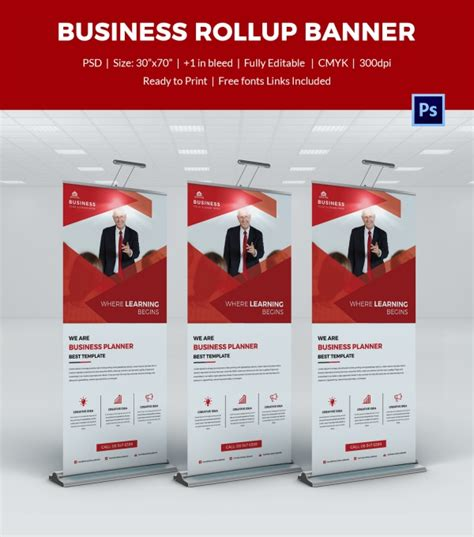 templates business banner roll up template free download